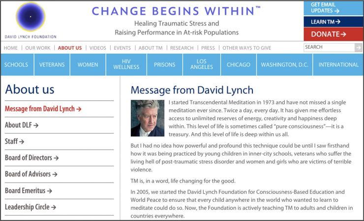 David Lynch TM page